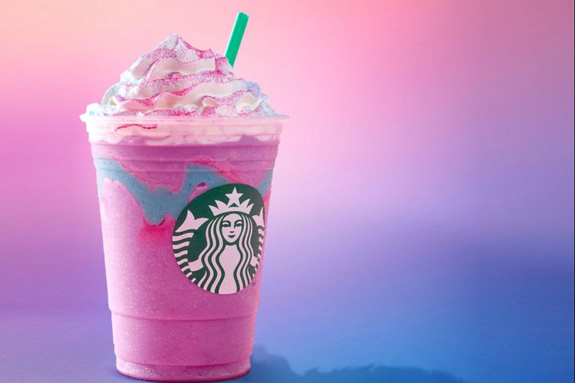 Starbucks unicorn frappuchino Credit: Starbucks